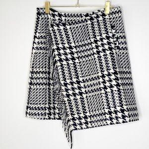 Eddie Bauer Wool Blend Glen Check Plaid Skirt 6